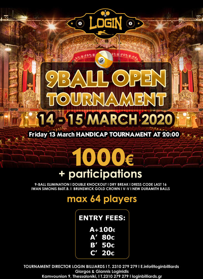 9 BALL OPEN TOURNAMENT